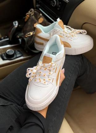 Puma cali yellow 🍏 стильные женские кроссовки пума кали3 фото