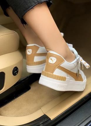 Puma cali yellow 🍏 стильные женские кроссовки пума кали6 фото