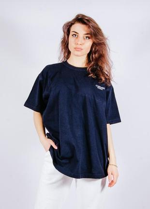 Женская синяя футболка, жіноча синя футболка