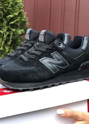 Женские кроссовки new balance черные