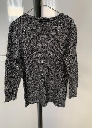 Блестящий свитер с паетками