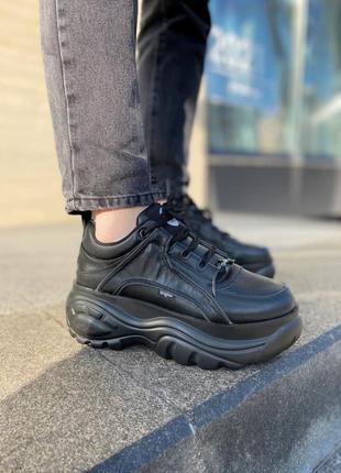 Buffalo london black 🍏 стильные женские кроссовки бафало лондон