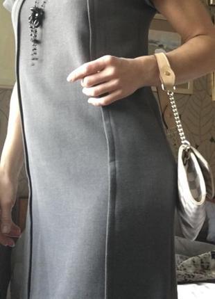 Ежедневное платье mango, темно-серый элегантный цвет.