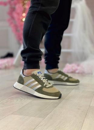 Кросiвки adidas marathon tech shoes khaki