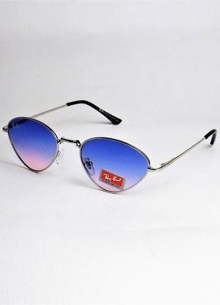 Очки солнцезащитные rb 662 голубые бабочка