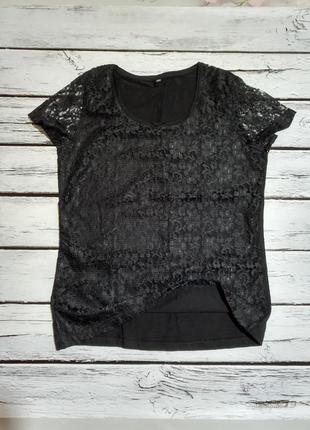 Красивая нарядная кружевная хлопковая блуза футболка натуральная женская