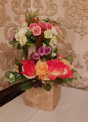 Квіткова прикраса двійна