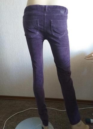 Фиолетовые вельветовые брюки джинсы brotes