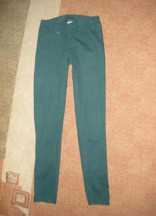 Джеггинсы котоновые зеленые, размер s/м
