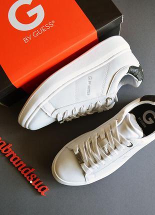 24.5 см стелька g by guess гесс гуес белые кроссовки кеды на платформе