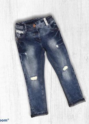 Next модные узкие джинсы для девочки 2-3 года