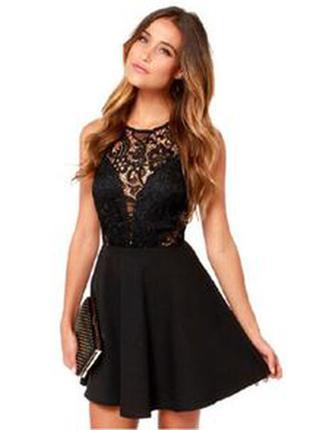 Обнова! платье с кружевом