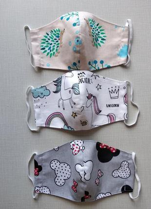 Детские маски для девочек на 5-7 лет с хлопка