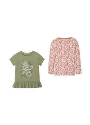 Комплект двойка для девочки реглан футболка