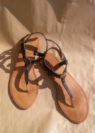 Стильные кожаные босоножки / гладиаторы / сандалии tommy hilfiger оригинал италия