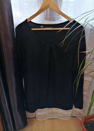 Xёрная футболка с длинными рукавами, футболка с длинными рукавами, лонгслив bonprix