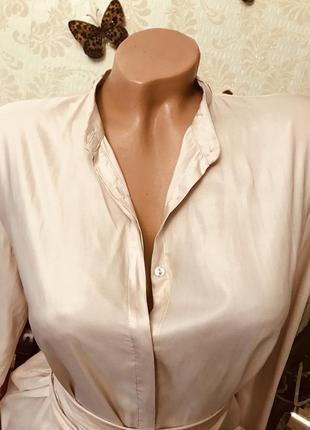 Удлиненная рубашка- блузка zara, размер s{42-44-46}