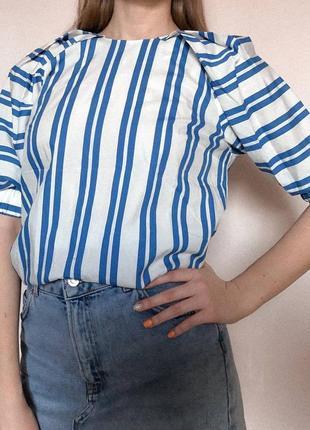Хлопковая блуза h&m
