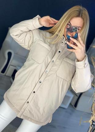 Шикарная демисизонная куртка-рубашка