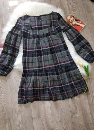 Модное теплое женское платье свободное с длинным рукавом mng mango