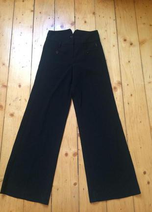 Модние широкие штани високая талия