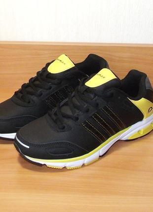 Кожаные кроссовки для подростков demax румыния черные
