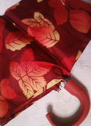Женский зонт «листопад», механический, в 3 сложения