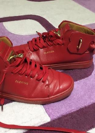 Кожаные кеды,ботинки 42р 27см стелька