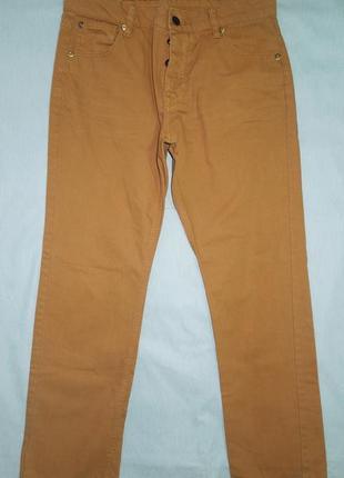 Джинсы мужские коричневые размер 32s