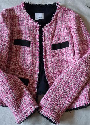Женский твидовый жакет пиджак  pinko в стиле шанель