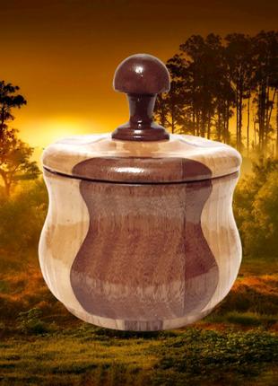 Фигурная деревянная коробка, ручная работа