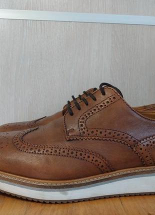 Мужские кожаные туфли zara (оригинал) 42 р.