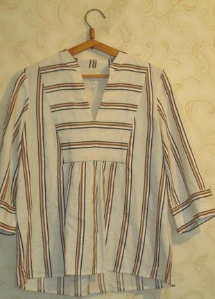 Льняная блуза-разлетайка