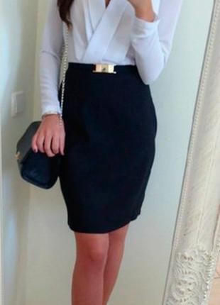Стильное новое офисное платье шифоновое