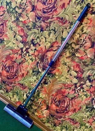 Швабра роликовая с двойным отжимом и телескопической ручкой,длинна валика 33 см. щетка.