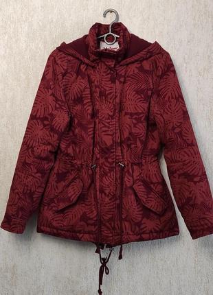 Демисезонная куртка / парка с тропическим принтом john baner