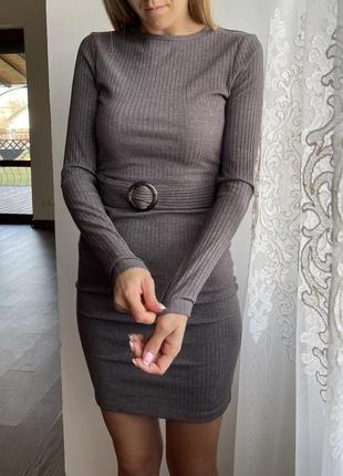 Плаття стрейчеве ,плаття в рубчик