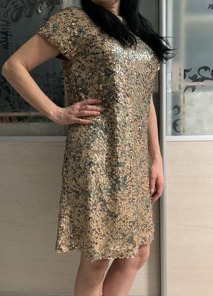 Платье пайетки р s-m, next англия