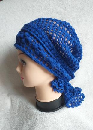 Женская бандана-шапочка-повойник ручной работы.