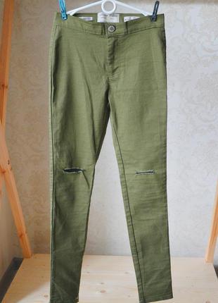 Стильные рваные джинсы скинни p. s