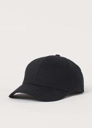 Чорная бейсболка, кепка h&m