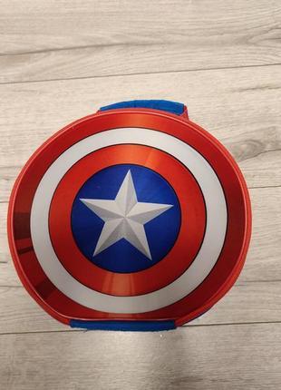 Детская мальчиковая сумка ланч-бокс, для обедов, для сменки щит капитан америка spearmark