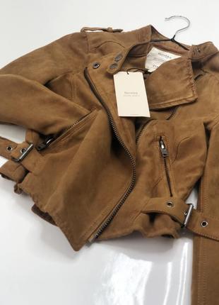 Куртка - косуха от bershka , укорочённая , легкая , эко замш на тканевой подкладке