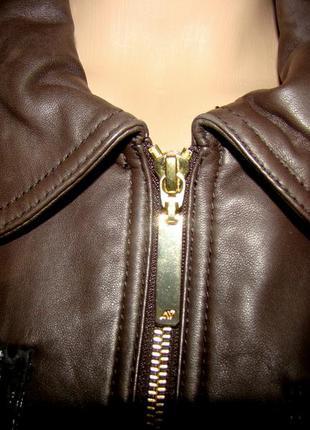 Натуральная кожаная куртка apart