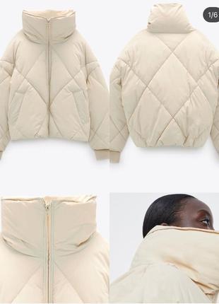 Куртка курточка пуффер пуховик пуфер zara