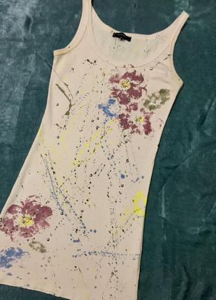 Удлиненная майка, туника, платье