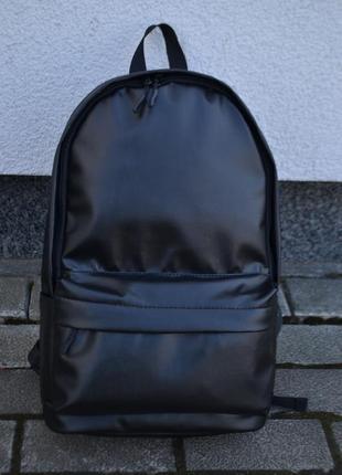 Крепкий рюкзак кожаный с экокожи мужской женский карман под нетбук ноутбук