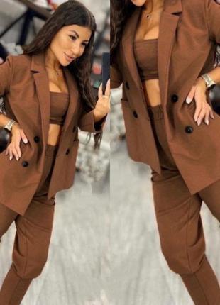 Новинка! костюм женский 2ка (пиджак+штаны)