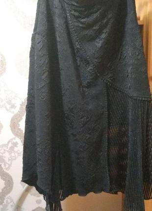 Красивая чёрная юбка большого размера