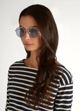 Kaleos очки солнцезащитные в круглой оправе,унисекс,оригинал